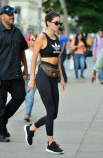 KENDALL JENNER and HAILEY BALDWIN Leaves a Gym in New York 07/31/2017