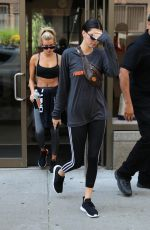 KENDALL JENNER and HAILEY BALDWIN Out in New York 08/01/2017
