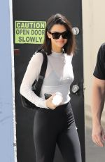 KENDALL JENNER Leaves a Studio in Calabasas 08/30/2017