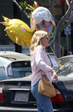 KIRSTEN DUNST Leaves a Party Store in Los Angeles 08/23/2017