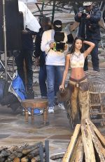 LAIS RIBEIRO on the Set of VS Holiday Catalog in Aspen 08/15/2017