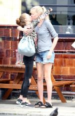 LARA STONE Lunch with a Friend in London 08/20/2017