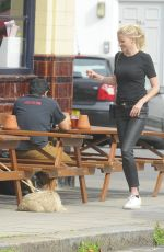 LARA STONE Out for a Drink at Primrose Hill Pub 08/23/2017