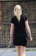 LARA STONE Walks Her Dog Out in London 08/05/2017