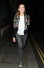 LAURA CARMICHAEL Night Out in London 08/04/2017
