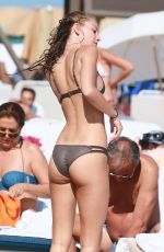 LAUREN ASHLEY in Bikini at a Beach in Miami 01/31/2017