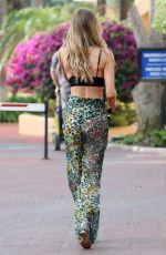 LAUREN POPE Out and About in Marbella 08/08/2017