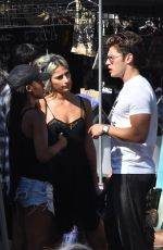 LEXY PANTERRA and Gregg Sulkin at a Vintage Flea Market in Hollywood 08/14/2017