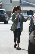 LEA MICHELE Out for Lunch in Los Angeles 08/25/2017