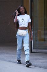 LEOMIE ANDERSON at Fittings for Victoria's Secret Fashion Show 2017 in New York 08/27/2017