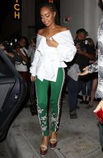 LIEGH-ANNE PINNOCK Night Out in West Hollywood 08/07/2017