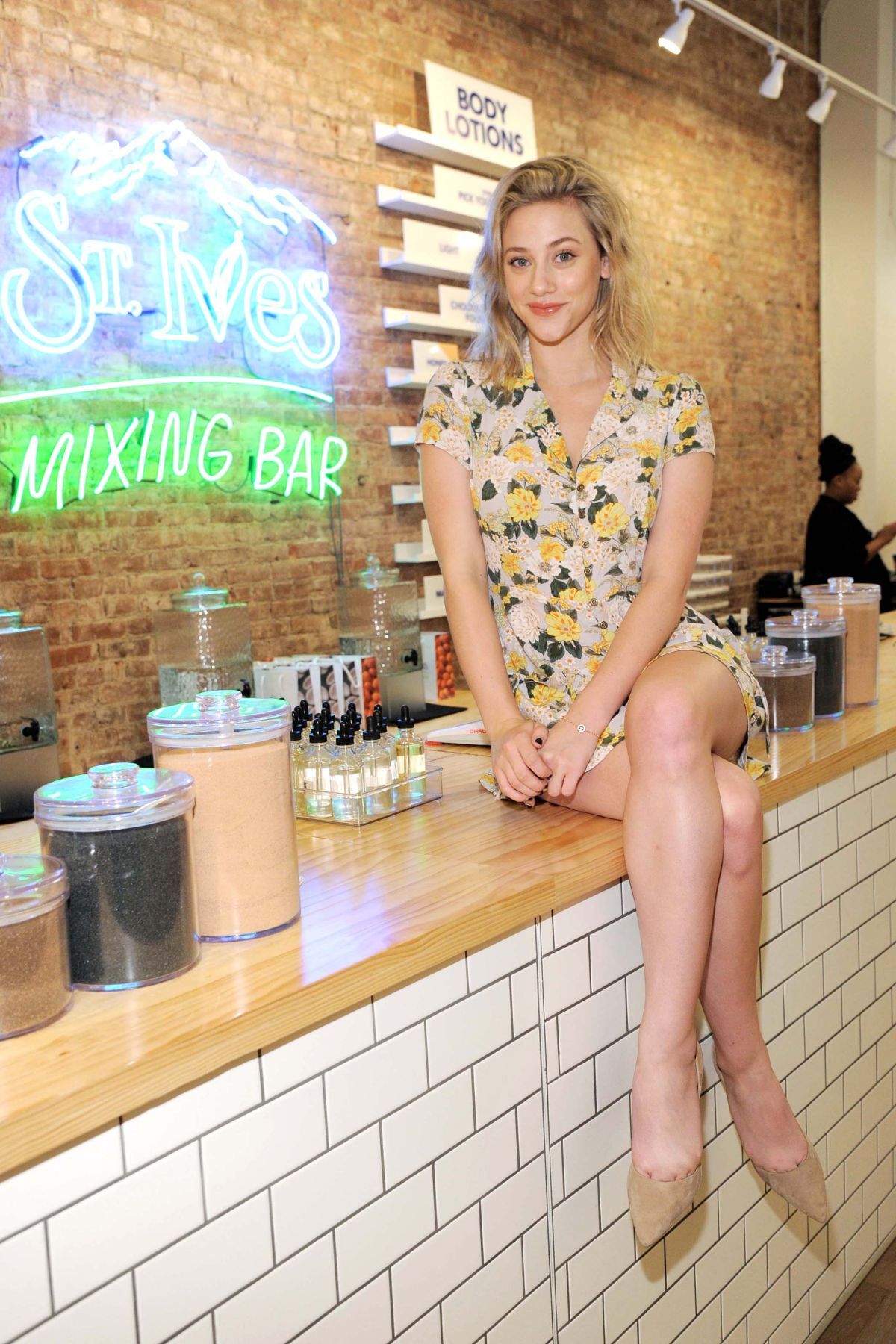 LILI REINHART at a Photo Opp at Mixing Bar in New York 08/15/2017