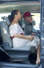 LILLY and Boris BECKER Arrives at Airport in Ibiza 08/13/2017