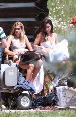 LILY ALDRIDGE, STELLA MAXWELL, JASMINE TOOKES and LAIS RIBEIRO on the Set of VS Ad Campaign in Aspen 08/14/2017