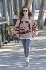 LILY COLLINS After Workout in West Hollywood 08/22/2017
