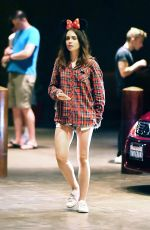 LILY COLLINS at Disneyland in Anaheim 08/10/2017