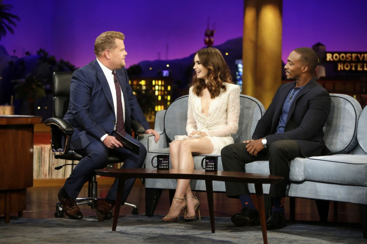 LILY COLLINS at Late Late Show with James Corden in Los Angeles 08/07/2017