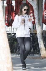 LILY COLLINS Heading to a Gym in West Hollywood 08/11/2017