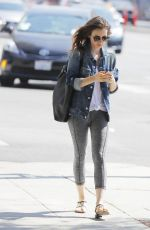 LILY COLLINS Out and About in Beverly Hills 08/30/2017