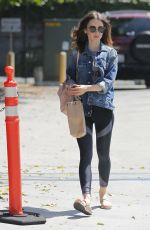 LILY COLLINS Out and About in West Hollywood 07/31/2017