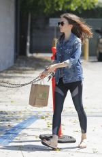 LILY COLLINS Out for Lunch after Her Workout in West Hollywood 07/31/2017