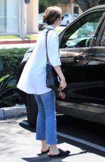 LILY COLLINS Out for Lunch in Los Angeles 08/18/2017