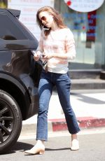 LILY COLLINS Out in West Hollywood 08/14/2017