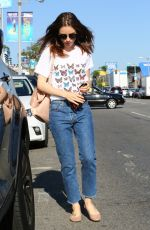 LILY COLLINS Out Shopping in Beverly Hills 08/22/2017