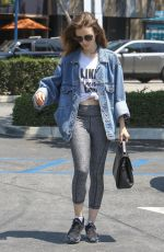 LILY COLLINS Out Shopping in West Hollywood 08/05/2017