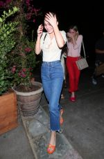 LILY-ROSE DEPP at Ago Restaurant in West Hollywood 08/06/2017