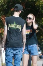 LILY-ROSE DEPP Out and About in Los ANgeles 08/17/2017