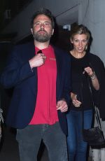 LINDSAY SHOOKUS and Ben Affleck Out in New York 08/20/2017