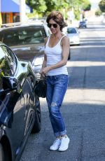 LISA RINNA in Jeans Out Shopping in West Hollywood 08/19/2017