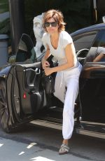 LISA RINNA Out for Lunch in Los Angeles 08/27/2017