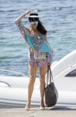 LIZZIE CUNDY in Swimsuit and Bikini on Vacation in Mallorca 08/06/2017