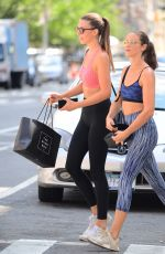 LORENA RAE in Tights Out and About in New York 08/20/2017