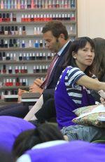 LORI LOUGHLIN at a Nail Salon in Beverly Hills 07/18/2017
