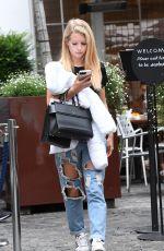 LOTTIE MOSS in Ripped Jeans Out in London 08/04/2017