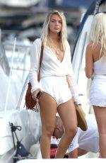 LOUISA JOHNSON at a Yacht in Ibiza 08/16/2017