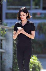 LUCY HALE Heading to the Set of Life Sentence in Burnaby 08/25/2017