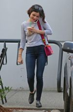 LUCY HALE Leaves Starbucks in Burnaby 08/10/2017