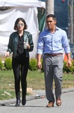 LUCY HALE on the Set of Life Sentence at Burnaby 08/25/2017