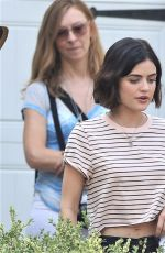 LUCY HALE on the Set of Life Sentence at Vancouver 08/11/2017