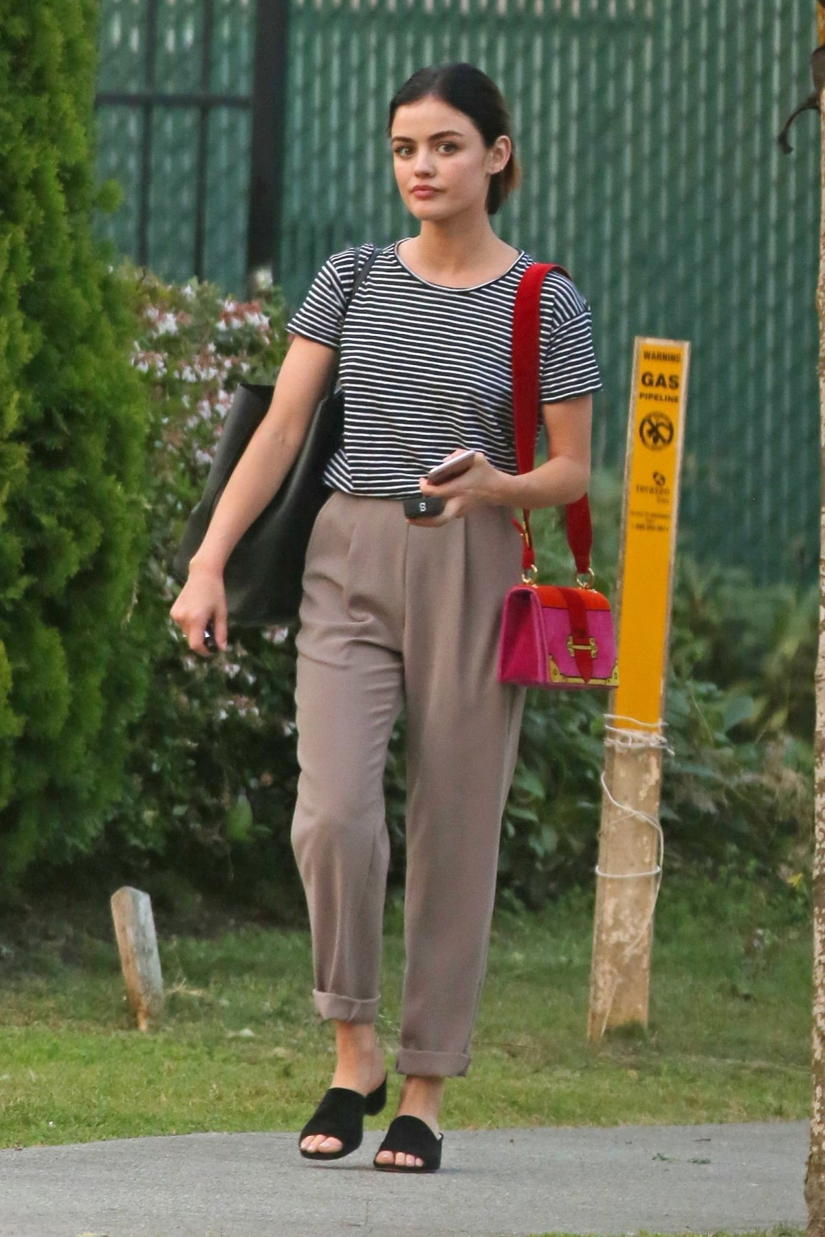 LUCY HALE Out and About in Vancouver 08/16/2017