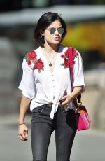LUCY HALE Out and About in Vancouver 08/26/2017