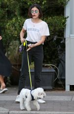 LUCY HALE Pay Her Dog Sitter in Vancouver 08/23/2017