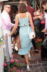 LUCY MECKLENBURGH Out for Lunch at Ivy in West Hollywood 08/17/2017
