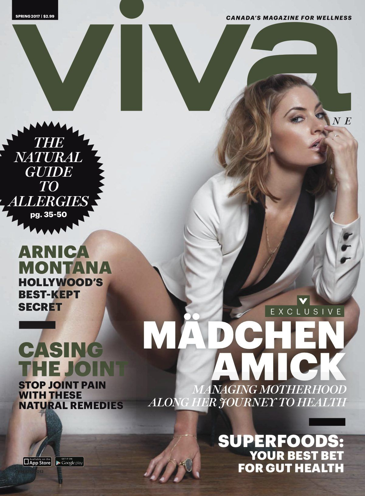 MADCHEN AMICK for Viva Magazine, Spring 2017
