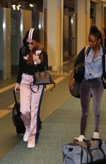 MADELAINE PETSCH and ASHLEIGH MURRAY at Airport in Vancouver 08/1/2017