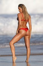 MADISON EDWARDS in Bikini on the Set of a Photoshoot on Tamarama Beach in Sydney 08/23/2017